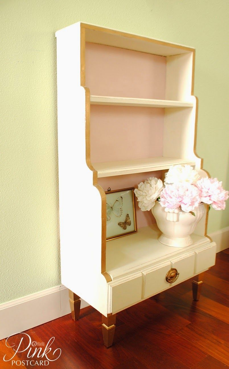 inspiring white shabby chic living room furniture | *Pink Postcard*: Shabby chic bookcase - Annie Sloan- Old ...