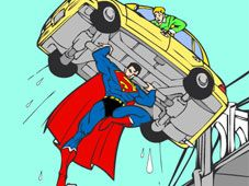 Play Superman Stop Press Game Online Superman Coloring Pages Superman Games Cartoon