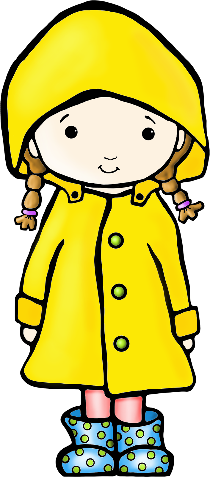 Grab this little Gumboot Girl clip art today! Perfect for Spring, and