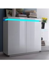 24designs Commode Kast Azure Led 120 X 114 Cm Hoogglans
