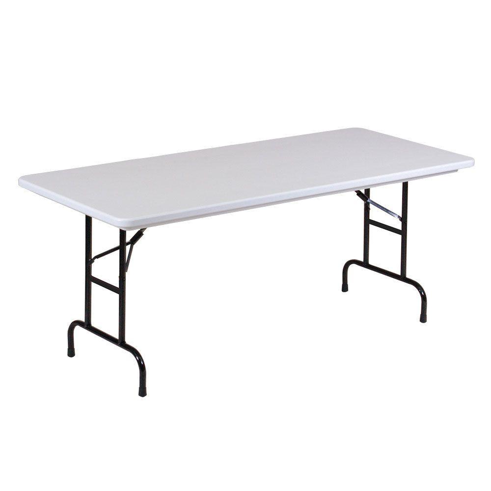 Correll Bar Height Folding Table 30 X 72 Adjustable Height Plastic Granite Gray R Series Ra3072 23 Folding Table Table Adjustable Height Table
