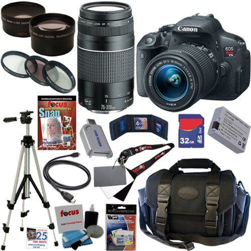 Canon EOS Rebel T5i 18.0 MP CMOS Digital Camera with EF-S 18-55mm f/3.5-5.6 IS STM Zoom Lens + EF 75-300mm f/4-5.6 III Telephoto Zoom Lens + Telephoto & Wide Angle Lenses + 12pc Bundle 32GB Deluxe Accessory Kit - http://www.finditamazon.com/2014/05/02/canon-eos-rebel-t5i-18-0-mp-cmos-digital-camera-with-ef-s-18-55mm-f3-5-5-6-is-stm-zoom-lens-ef-75-300mm-f4-5-6-iii-telephoto-zoom-lens-telephoto-wide-angle-lenses-12pc-bundle-32gb-deluxe/