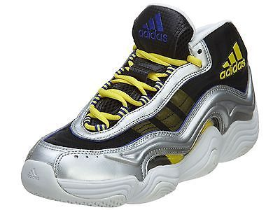 2dbb2e32b14 Adidas Crazy 2 Mens S83922 Silver Yellow Basketball Shoes Sneakers Size 13