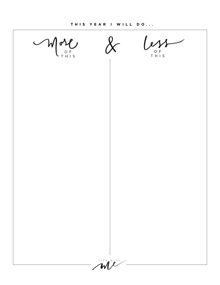 new years resolutions printable worksheets life with me by marianna hewitt more