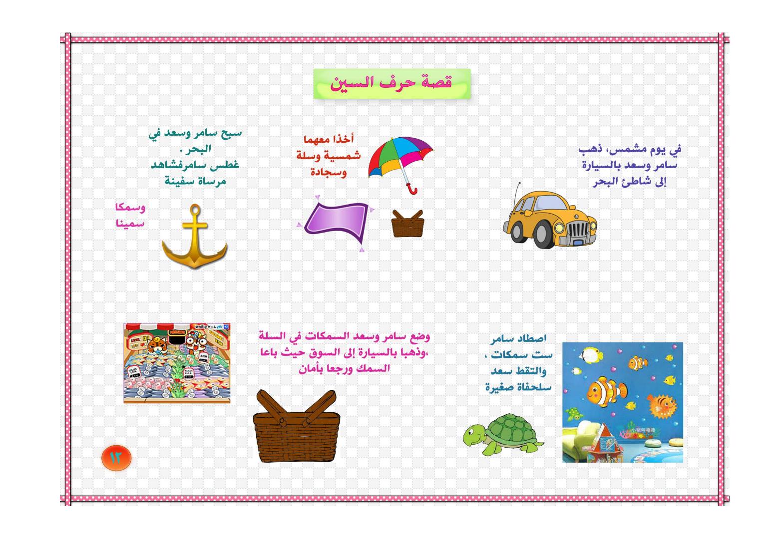 قصة حرف السين الصف الأول الفصل الدراسي الأول مدونة تعلم Learn Arabic Alphabet Learning Arabic Aesthetic Movies