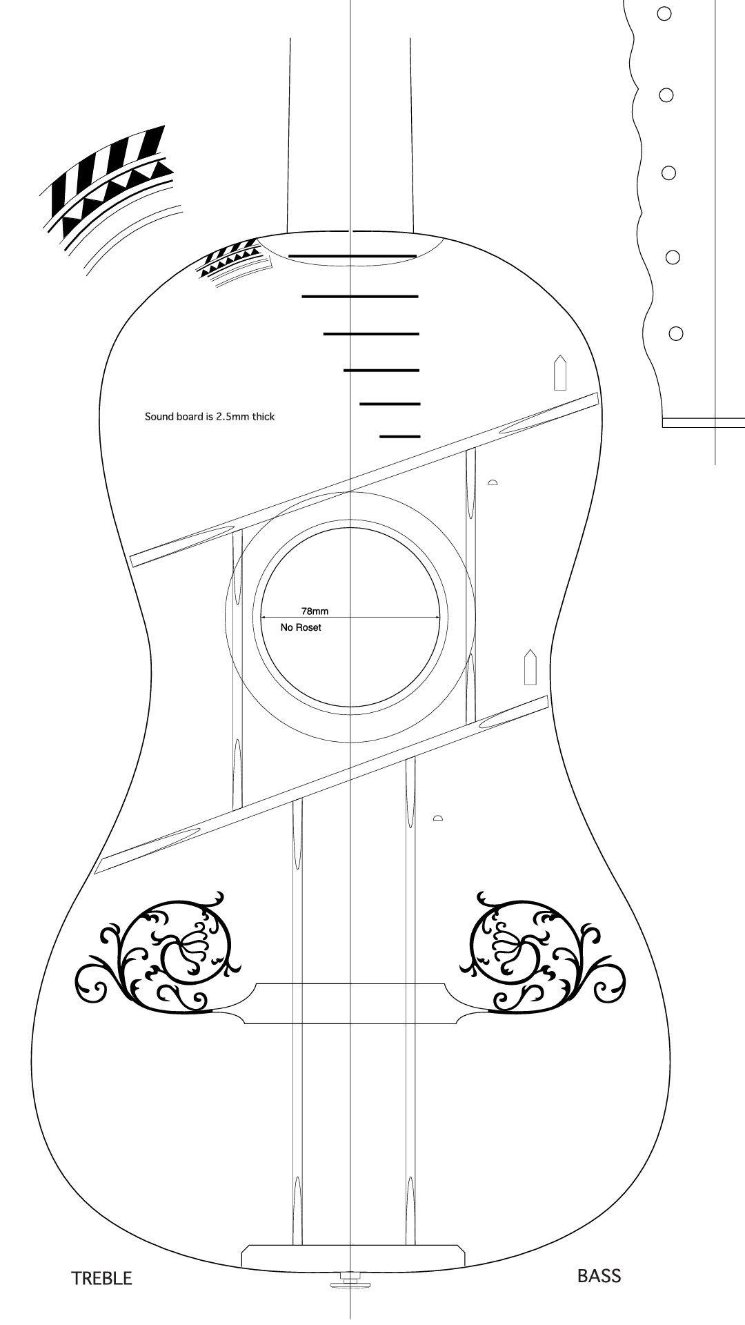 Guitarra barroca. | Guitar | Pinterest | Barroco, Guitarras y Lutheria