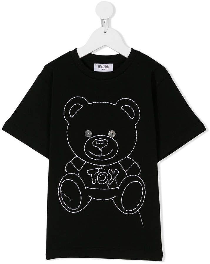 c104a913 Moschino Kids stitched teddy T-shirt | Products | Shirts, Moschino ...