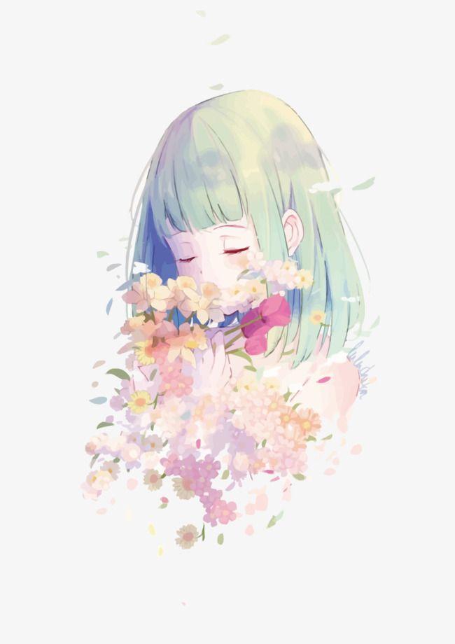 Vector Flores E Meninas