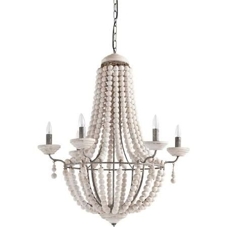 White bead chandelier google search mary davis pinterest white bead chandelier google search mozeypictures Gallery