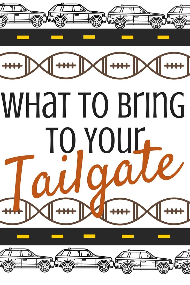 With the football season well underway, the tailgates are getting better and better. You already know how to get all of your tailgating items there, so make sure you know to pack the right supplies! Use this post as a check list before heading to the game to ensure you have the best tailgate on the block! | Tailgating