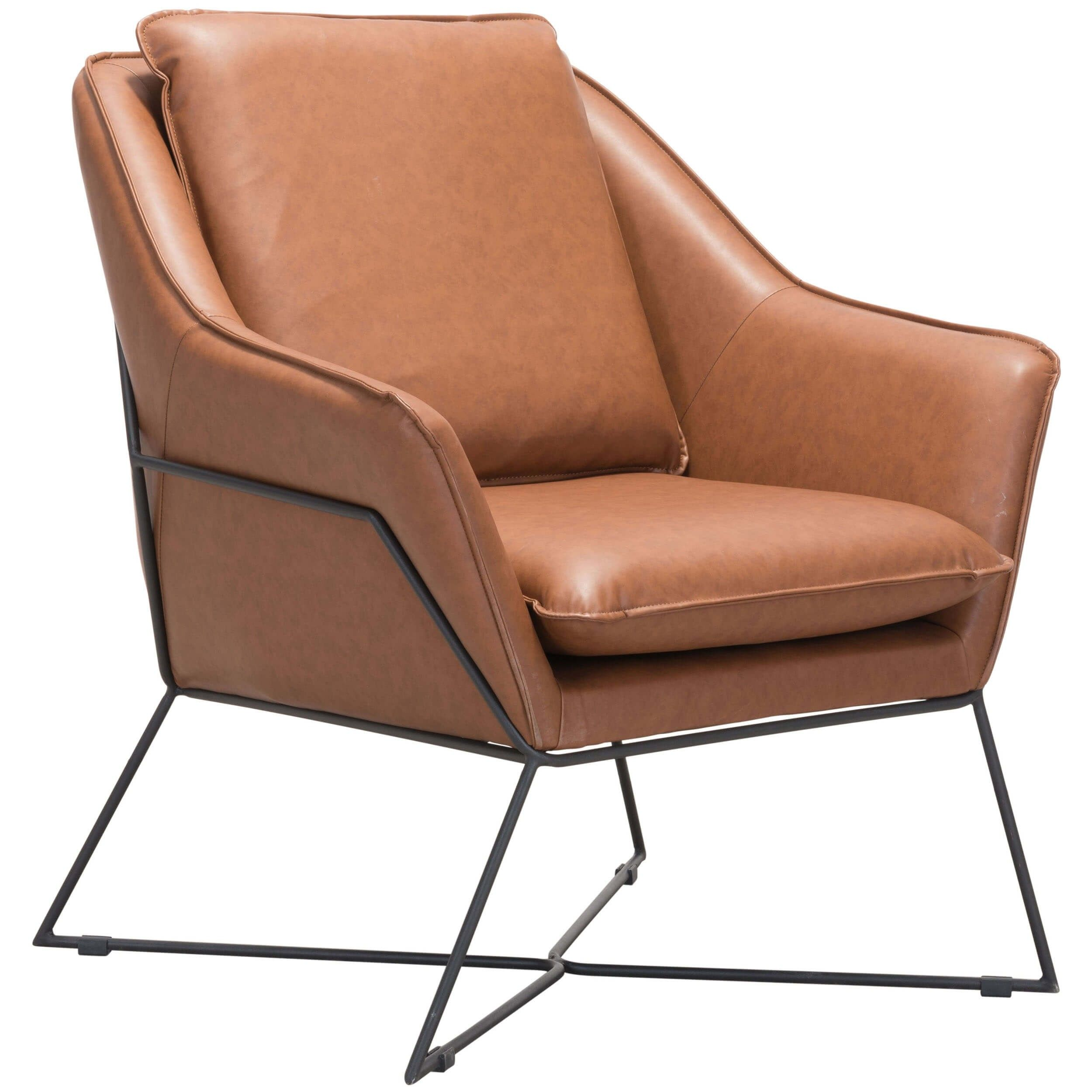 Lincoln Lounge Chair Saddle Zuo Modern Furniture