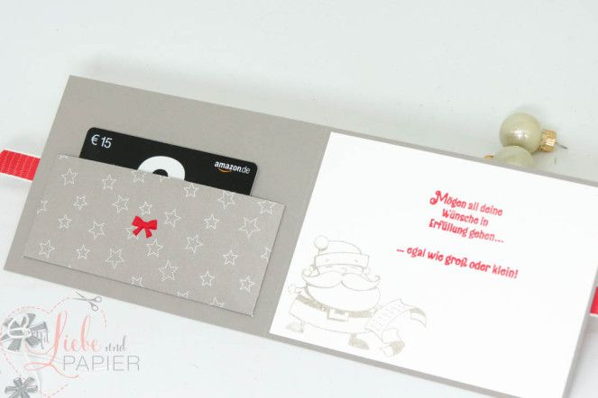 Photo of Christmas gift card (Stampin 'Up! From the Christmas workshop)