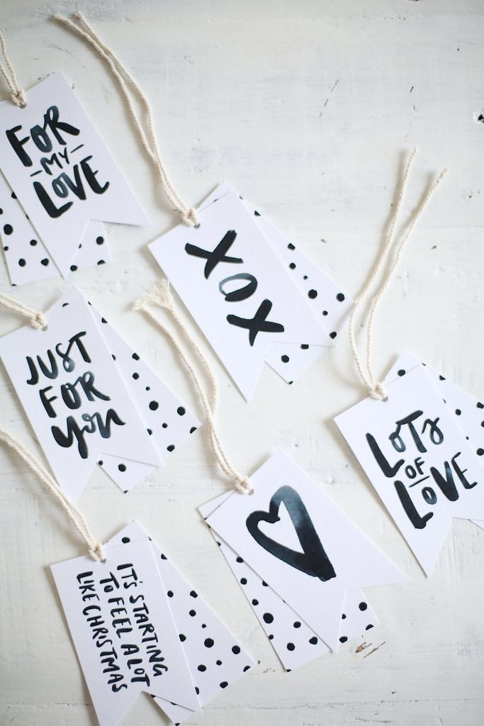 DIY Printable Gift Tags (they\'re Free | DIY.♥ | Pinterest ...