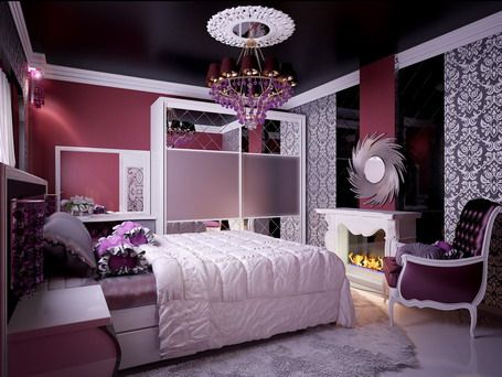 bedroom ideas for teenage girls purple. Interesting Ideas Elegant Purple In Teen Girlsu0027 Bedroom  Home Interior Decorating Ideas Throughout For Teenage Girls A