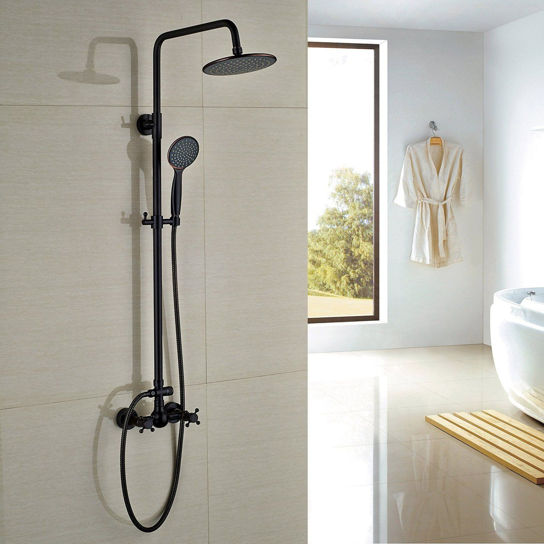 Rozin Oil Rubbed Bronze Bathroom Shower Faucet 8 Rainfall Shower