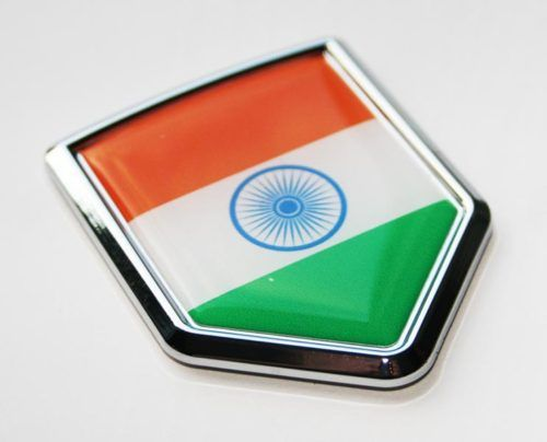 ☆india indian flag decal car chrome emblem sticker ebay
