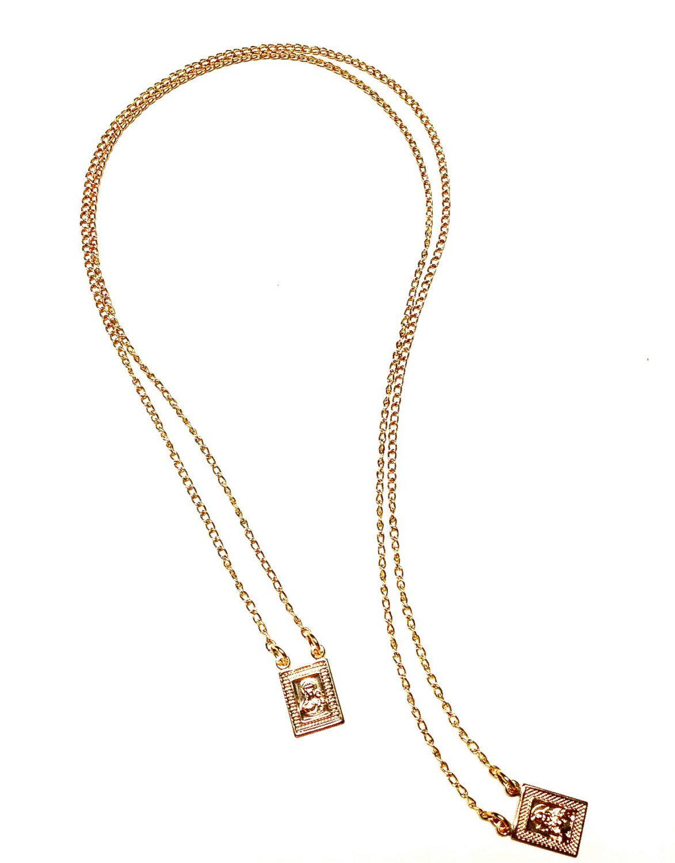 18k Gold Filled Scapular Escapulario Necklace By Goldenclasp On Etsy Gold Necklace 18k Gold