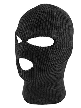 68ab059aaa4 Knit Black Face Cover Thermal Ski Mask for Cycling   Sports