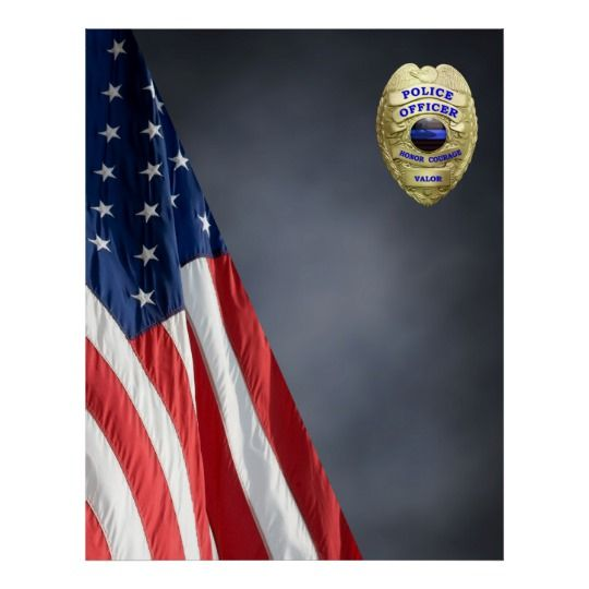 Compact Police Photo Backdrop Flag And Badge Poster Zazzle Com Blue Poster Photo Backdrop Flash Photography