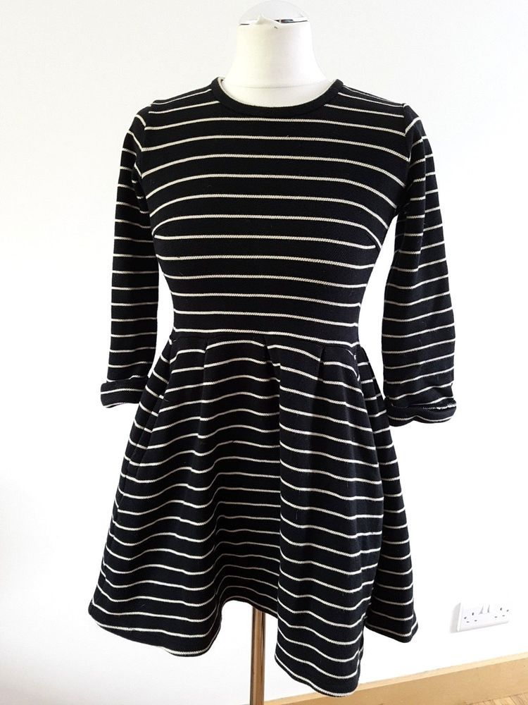 7706fab5abe Whistles black and white striped mini dress - size 10 UK Skater style # fashion #clothing #shoes #accessories #womensclothing #dresses (ebay link)