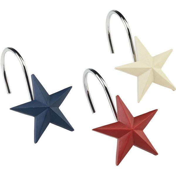 Avanti Texas Star Shower Curtain Hooks ($34) ❤ liked on Polyvore ...