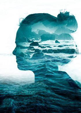 Love Exposure Surreal Sea Waves Summer Abstract Portrait Ocean Surf Gi