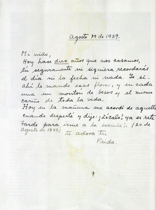 Letter From Frida Kahlo To Diego Rivera Frida Kahlo Frida And Diego Frida Khalo