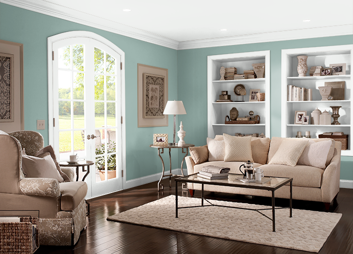 Living Room Behr Green Meets Blue S430 4