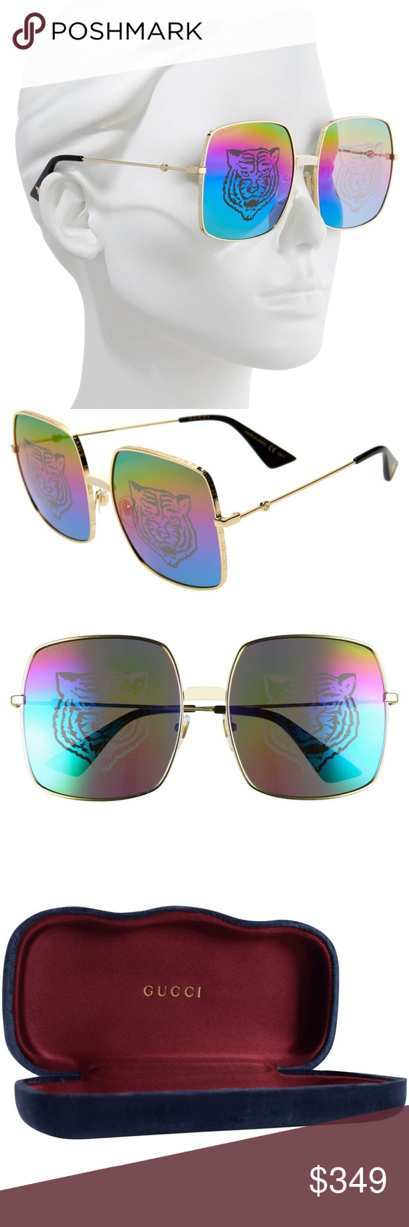 Gucci GG0414S 004 Sunglasses Brand Gucci Style Number