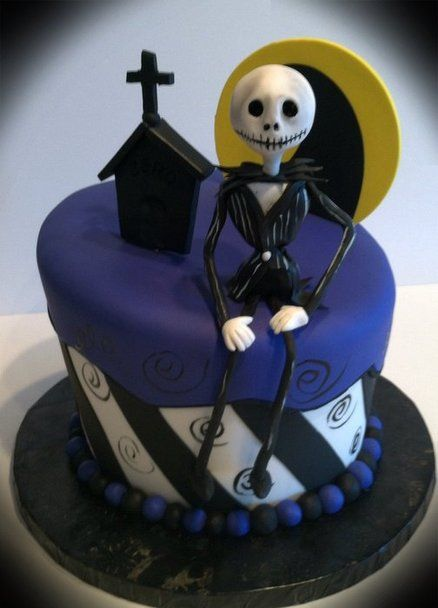 Nightmare before Christmas Cake by Skmaestas Cakes , cakes and