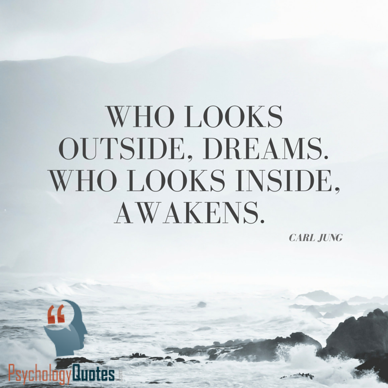 Image result for carl jung quote who looks outside dreams