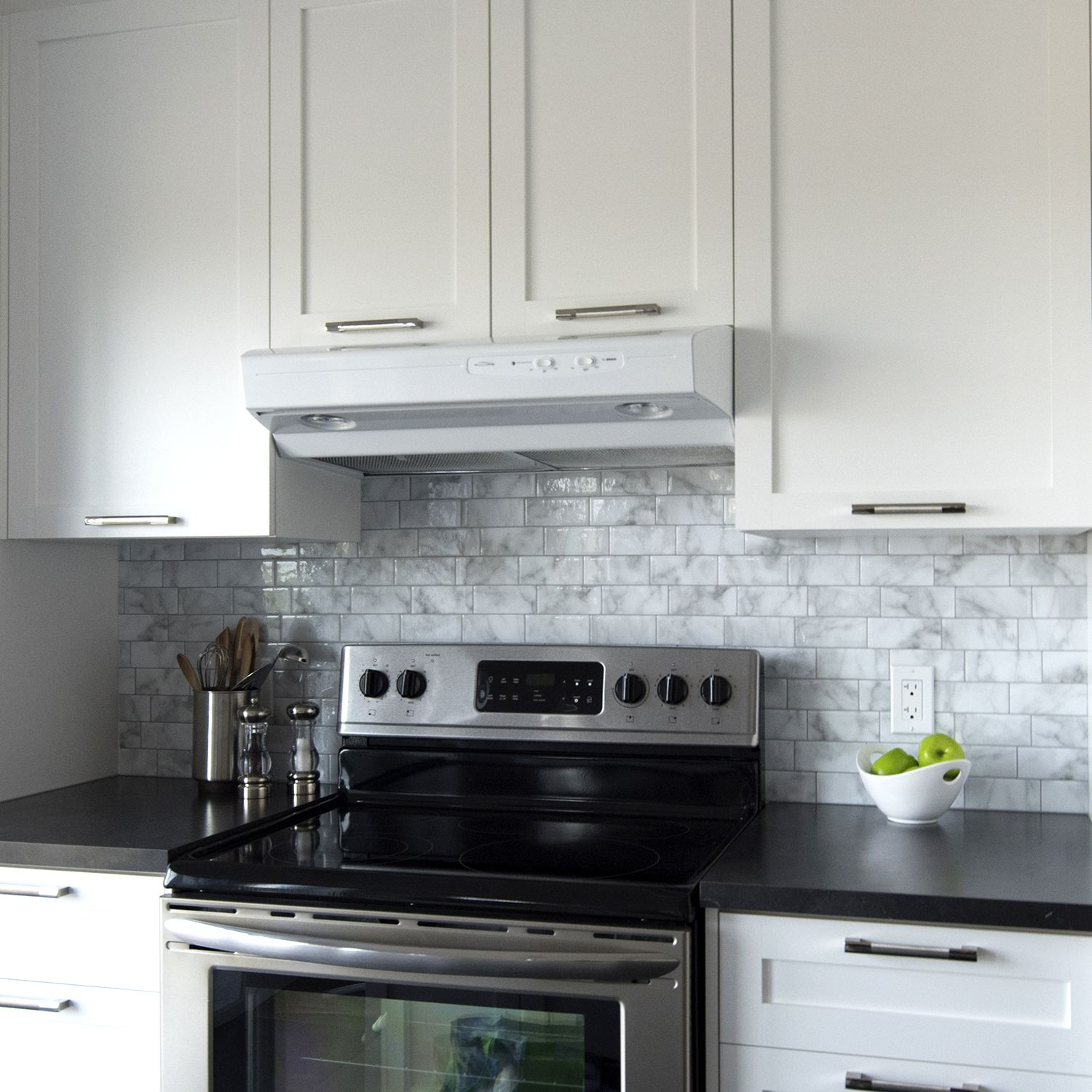 "Decorative Wall Tiles Kitchen Metro Carrera  ""quick Update To A Kitchen Backsplash Before"