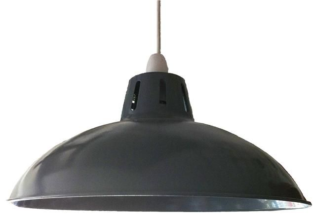 Retro large metal coolie glossy lampshade ceiling pendant modern retro large metal coolie glossy lampshade ceiling pendant aloadofball Image collections