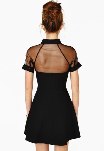 fdbd2dbd41 Little Black Dress. Black Contrast Transparent Sheer Mesh Hollow Dress. The top  10 best Little Black Dresses.