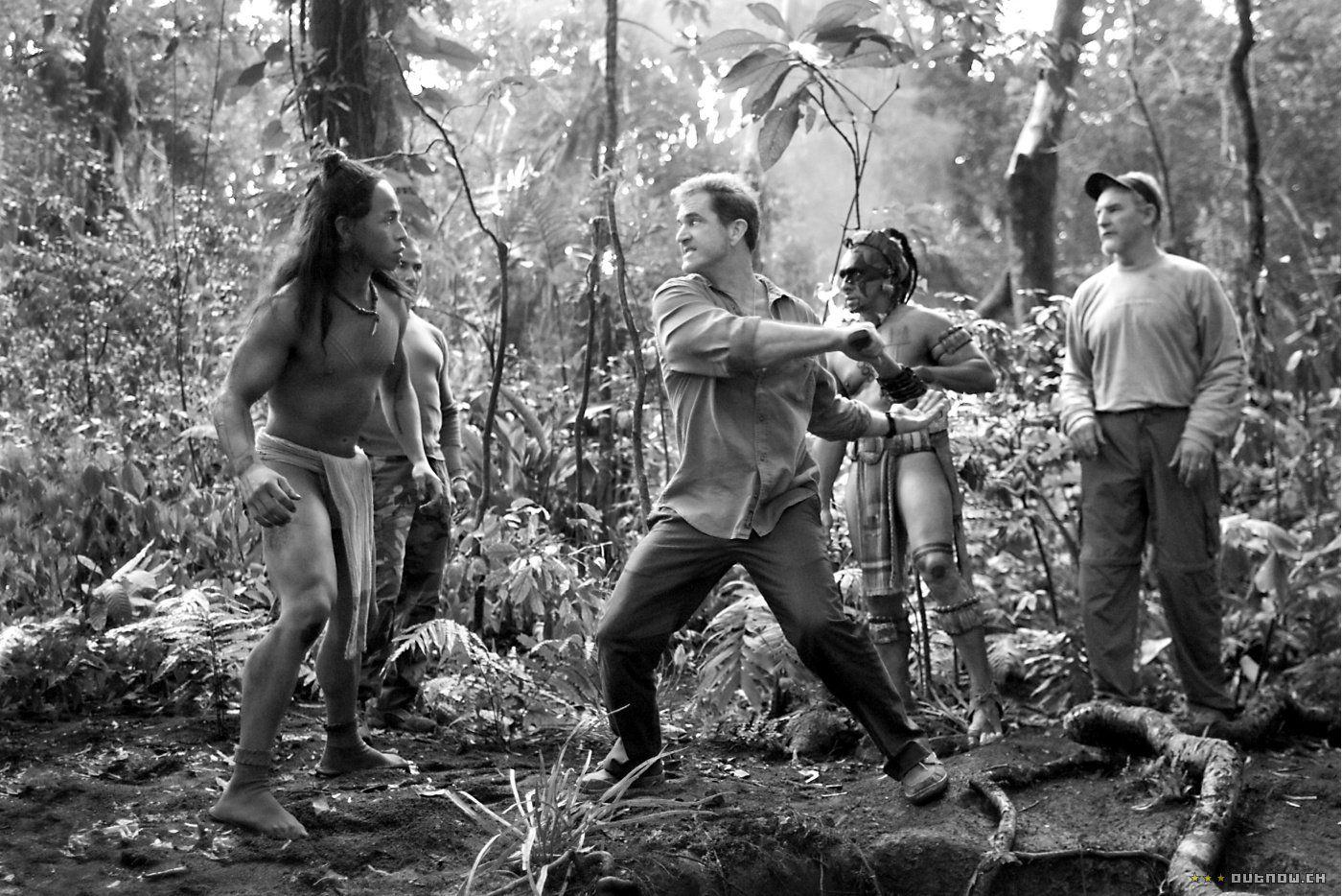 Director Mel Gibson on the set of Apocalypto (2006
