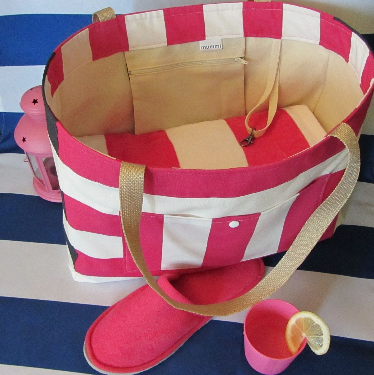 Ready for the pool, beach with this nautical tote? SOFIA tote is ...