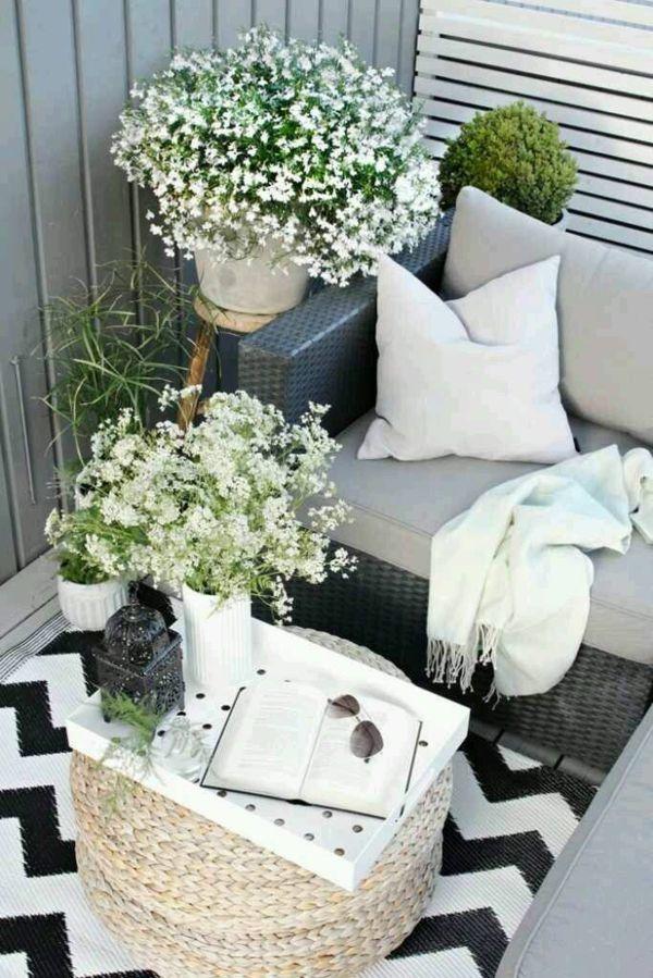balkondeko ideen f r eine bequeme und sch ne balkonatmosph re balkondekoration dekorieren und. Black Bedroom Furniture Sets. Home Design Ideas