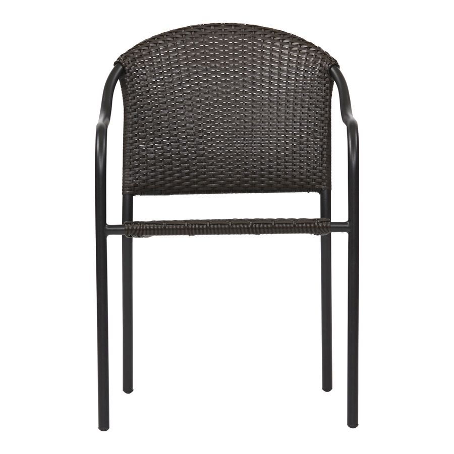Pleasing Garden Treasures Pelham Bay Wicker Stackable Steel Dining Ocoug Best Dining Table And Chair Ideas Images Ocougorg