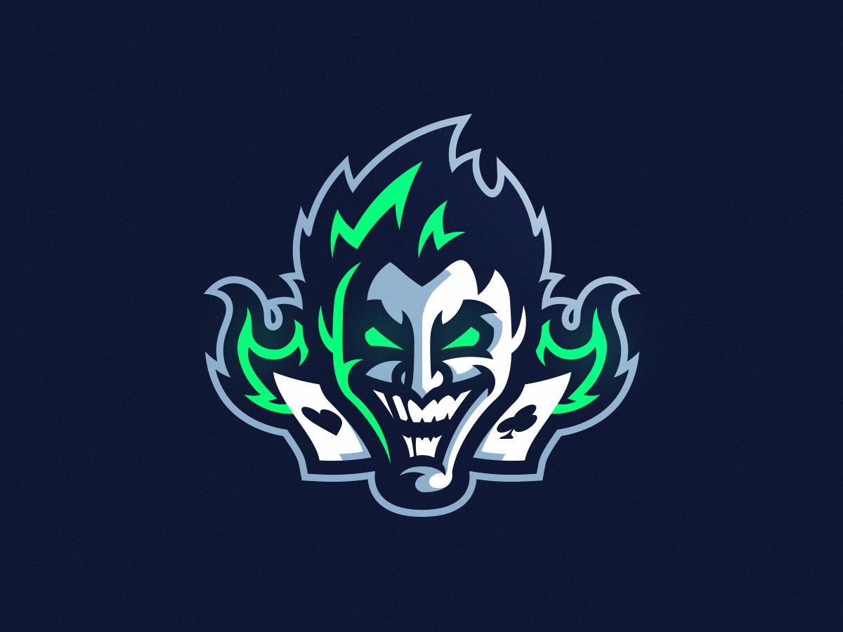 Neon Joker Mascot Logo Design Joker Logo Logo Design Golden Logo Design