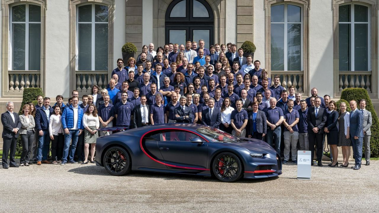 100th Chiron Leaves The Bugatti Factory With A 3 34 Million Price