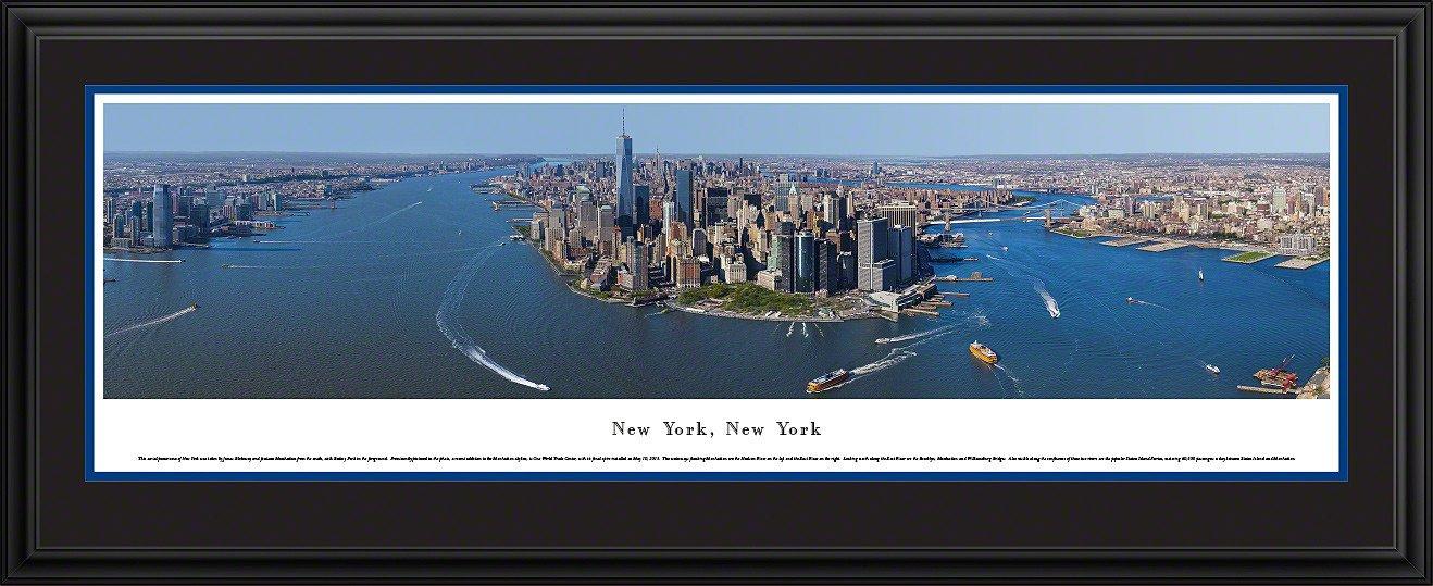 New York, New York Skyline Panoramic Picture Framed
