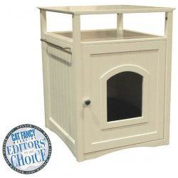 Cat Washroom - Side Table Pet House by Merry Products - $122.00 - Perfect for keeping that litter box discreet!