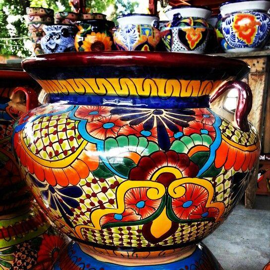 Gorgeous Planter Pot 75 In Houston Texas Mexican Garden Succulent Containers Tiles
