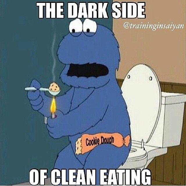 The Dark Side Of Clean Eating Cookie Monster Family Guy Family Guy Funny Monster Cookies