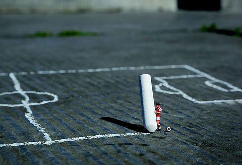 street artist Slinkachu creates tiny works of urban artwork that are easily overlooked