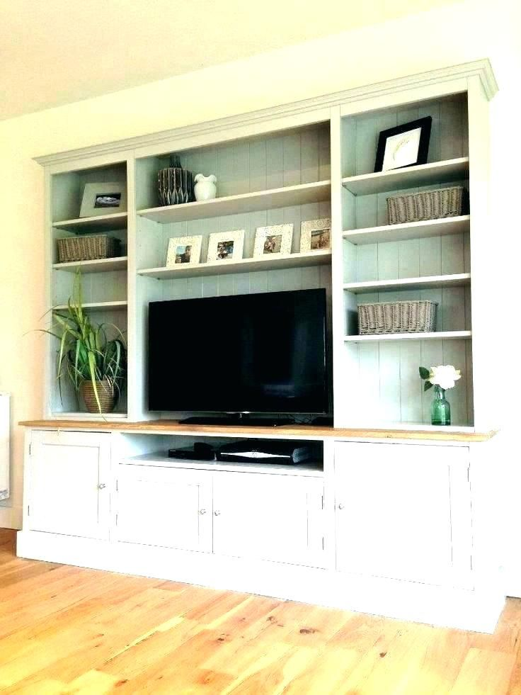 Built In Bookshelf With Tv Bookcase Stand Stands Shelves Small