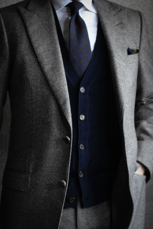 c02c4613128c29 Cardigan under suit combo | Style in 2019 | Mens fashion:__cat__ ...