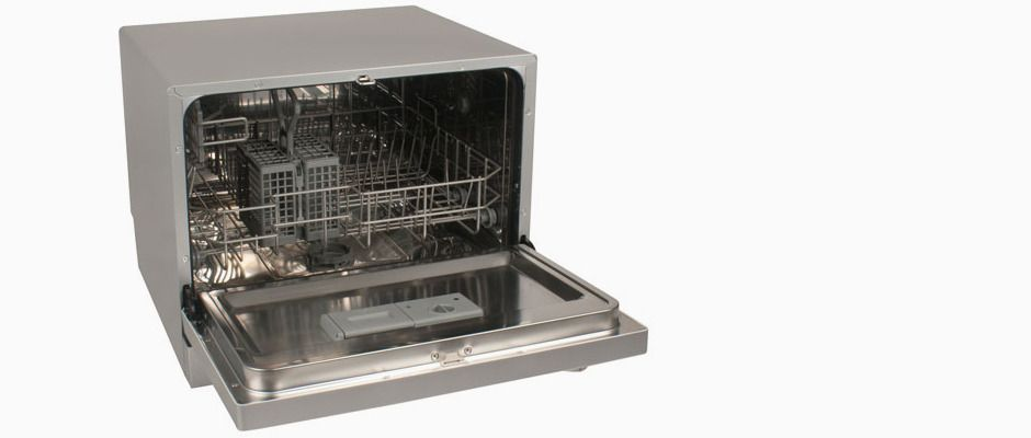 Edgestar Dwp61es If Your Kitchen Is Too Small For A Full Size Dishwasher This Is A Great Option Di Countertop Dishwasher Portable Dishwasher Dishwasher White
