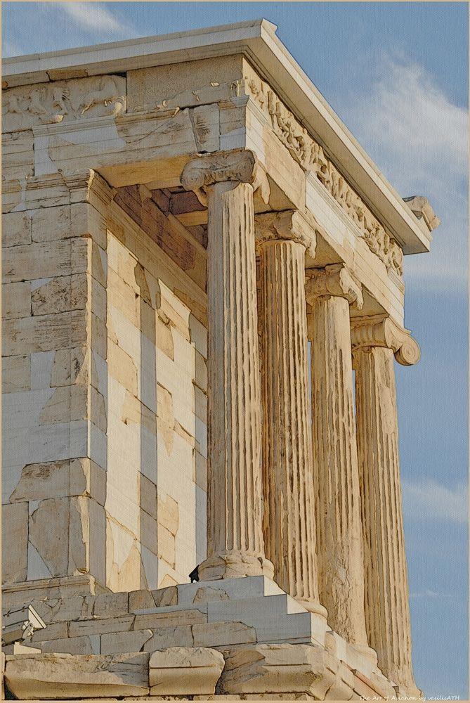 The Temple of Athena Nike Greek Nas Athins