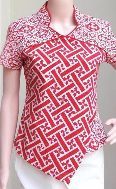 Model Baju Batik Atasan Terbaru 2018 Mode Africaine Di